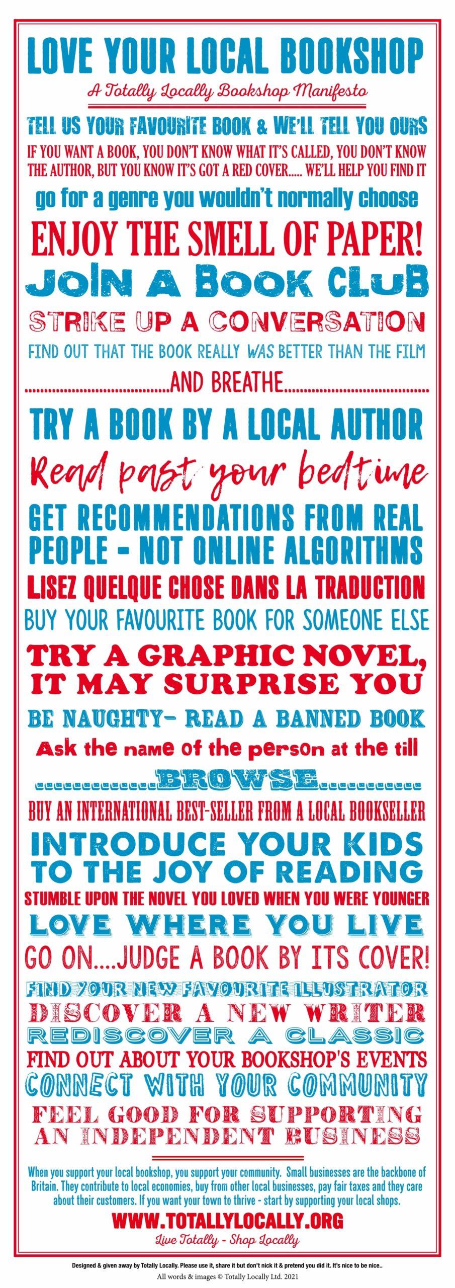 Totally Locally Bookshop Manifesto